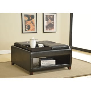 St Ives Cocktail Storage Ottoman With Flip Tray 14292585