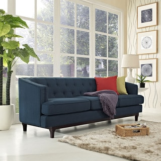 Furniture Of America Esmone Modern Tuxedo Linen Sectional