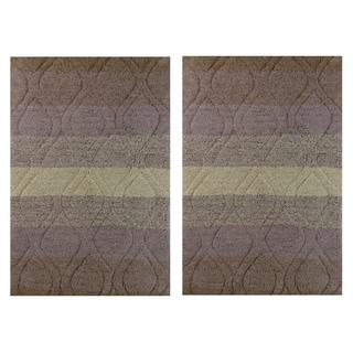 Celebration Tweed Cotton 2 Piece Bath Rug Set 16172330