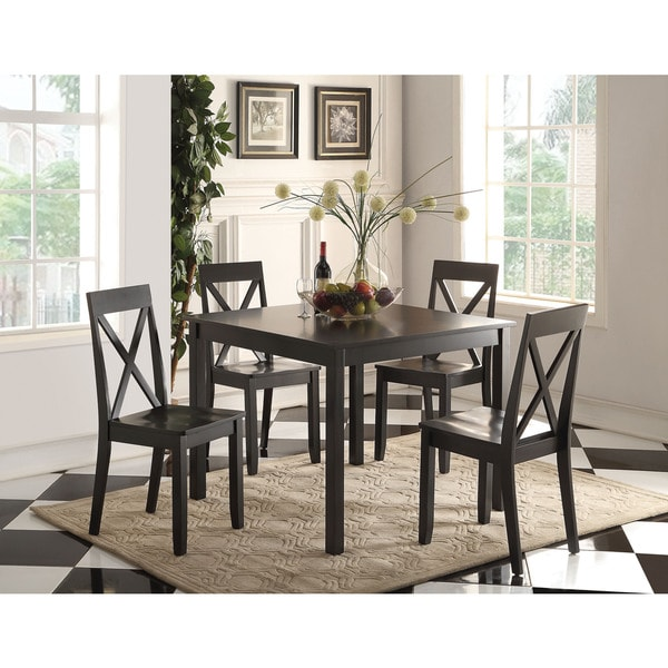 Discount Dining Room Sets Free Shipping: Zlipury Black Wood 5-piece Dining Set