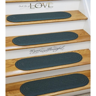 Braided Non Skid Solid Stair Tread Rugs Set Of 4