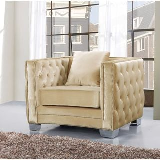 Reese Espresso Finish Chinchilla Upholstery Accent Chair