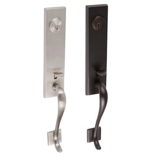Sure Loc Vail Front Door Handleset With Nickel Interior