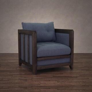 Creston Beige Linen Reclaimed Finish Arm Chair 15761998