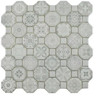 Somertile 18x18 Inch Classic Calacatta Ceramic Floor And