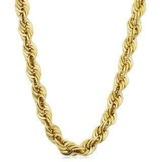 Fremada 14k Yellow Gold-filled Men's 6-mm Rope Chain Necklace (16 - 36 inches)
