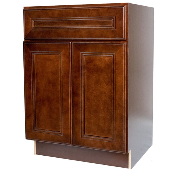 27 Inch Bathroom Vanities: Everyday Cabinets Cherry Mahogany 27-inch Leo Saddle