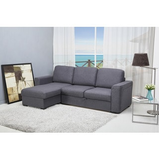 Abbyson Living Bedford Gray Linen Convertible Sleeper