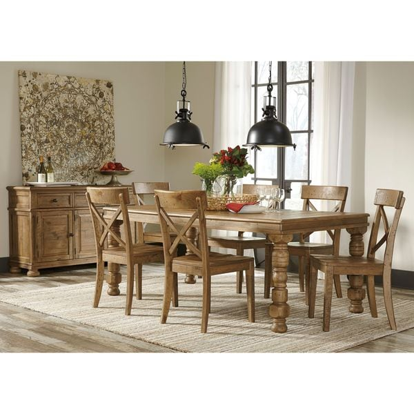 Brown Dining Room Table: Signature Design By Ashley Trishley Brown Dining Room