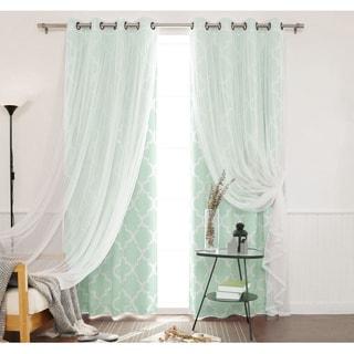 Lush Decor Nerina Ruffled Microfiber Curtain Panel