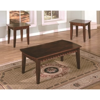Brown Cherry Promo Coffee Table Set Of 3 17144801