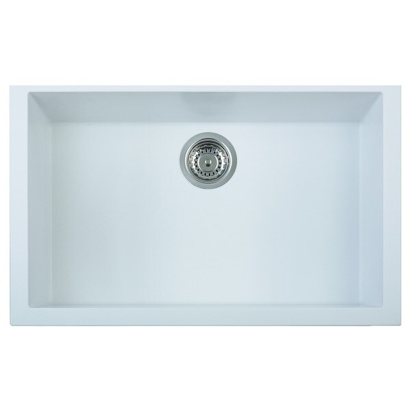 White Single Bowl Kitchen Sink Undermount