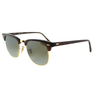 Ray-Ban Clubmaster Tortoise Shell Plastic Round Sunglasses