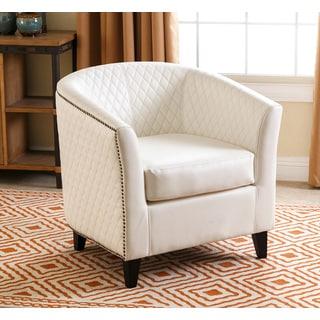 Abbyson Living Bradley Khaki Tufted Fabric Armchair 15468187