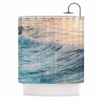 KESS InHouse Chelsea Victoria 'Sherbert Ocean' Shower Curtain (69x70)
