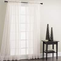 Croscill White Sheer Mist Window Panel