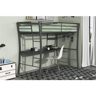 Black Metal Twin Loft Bunk Bed 12579895 Overstock Com