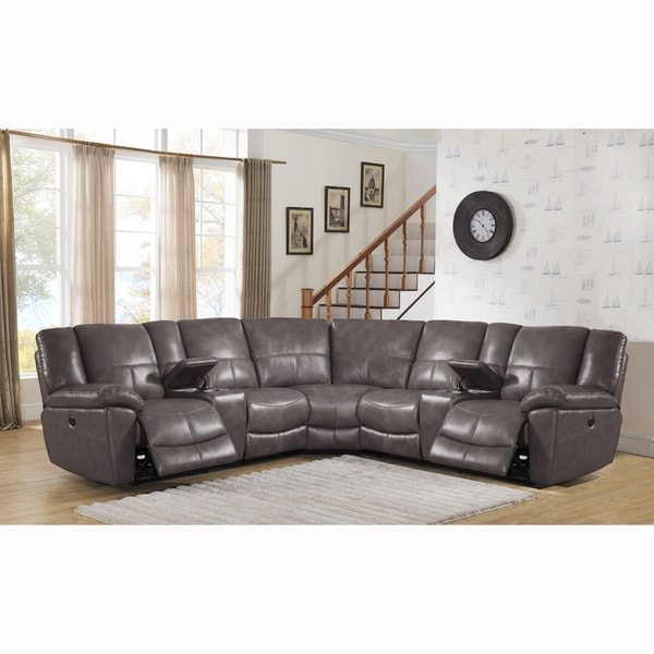 Tahoe Premium Top Grain Grey Leather Power Reclining  : Tahoe Premium Top Grain Gray Leather Power Reclining Sectional Sofa 09338075 a201 4179 88fe e760eee63c3d600 from bestpriceprobe.com size 600 x 600 jpeg 46kB