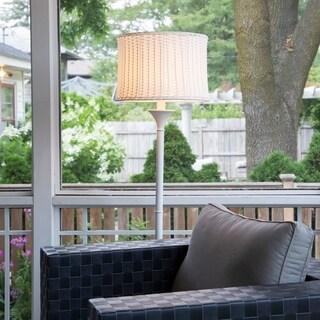 """59.5""""H Outdoor and Indoor Basket Weave Floor Lamp"""