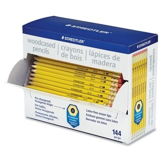 Staedtler Pre-sharpened No. 2 Pencils - Yellow (144/Box)