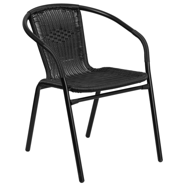 Rattan Indoor Outdoor Restaurant Stack Chair 18978330