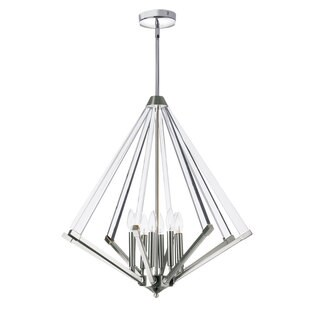 Dainolite Polished Chrome Steel 8-light Chandelier with Acrylic Arms