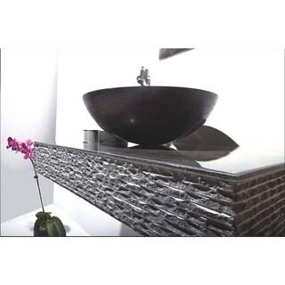 MTD Vanities Rome Blue Stone 36-inch Single Vessel Wall Mount Sink