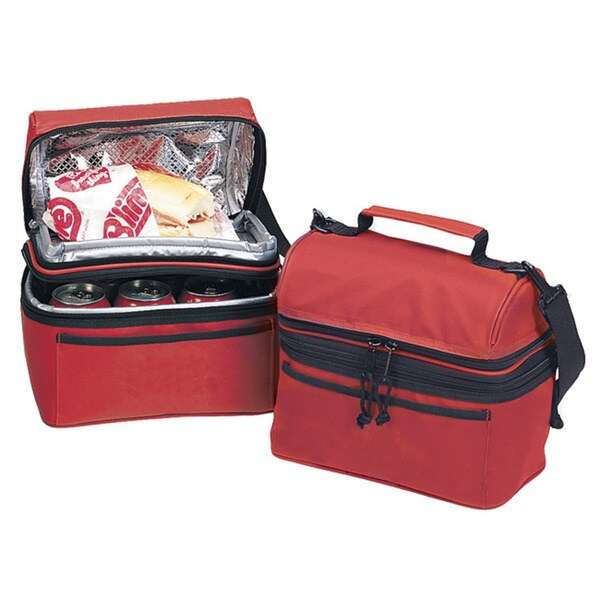 Goodhope Red Black Fabric Polyester Lunch Refresher Cooler