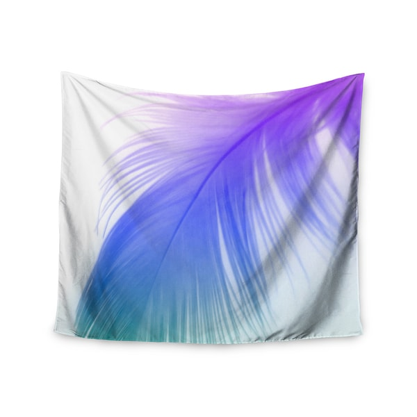 """Kess InHouse Alison Coxon """"Feather Colour"""" Wall Tapestry 51'' x 60''"""