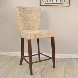 Jackson Bicast Leather Cappuccino Bar Stools Set Of 2