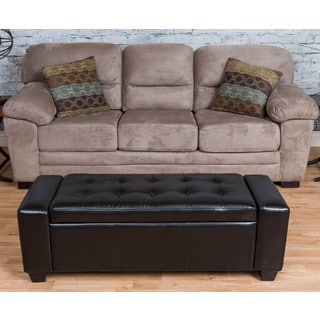 Baxton Studio Sierra Bonded Leather Bench Storage Ottoman