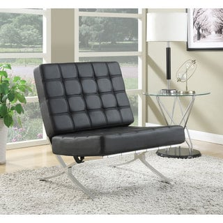 Rialto Black Bonded Leather Chair 13480515 Overstock