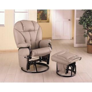 Oscar Vintage Creme Chair And Ottoman 18653742