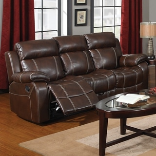 Furniture Of America Gausten Transitional Brown Leather