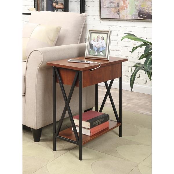 Convenience Concepts Tucson Electric Flip Top End Table