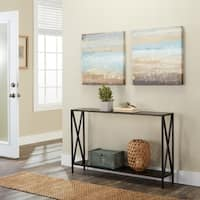 Porch & Den Bywater Dauphine Cross Design Console Table