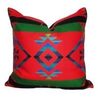 Hudson Lodge Falcon Red Throw Pillow