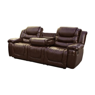 Furniture Of America Brentan Dark Brown Bonded Leather