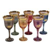 Lorren Home Trend Choice of Color Multicolored 6-piece Wine Goblet Set