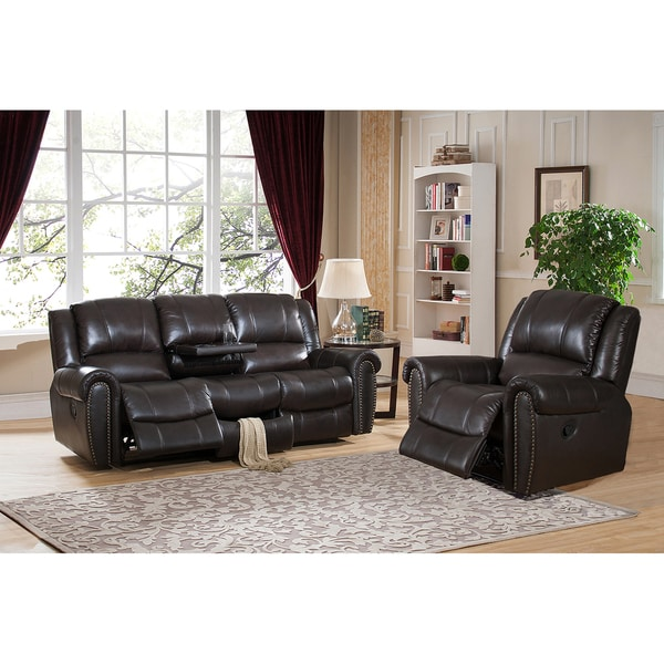 Leather Sectional Sofas Charlotte Nc: Charlotte Top Grain Leather Reclining Sofa And Chair Set