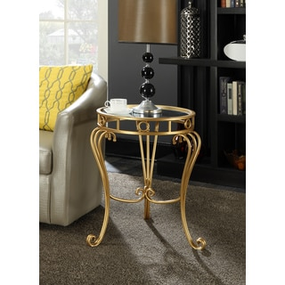 Safavieh Treasures Cagney Gold White Top Accent Table
