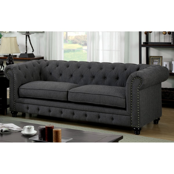 Furniture Of America Staffers Traditional Deep Tufted