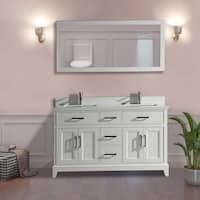 Vanity Art 60-inch Double-sink Bathroom Vanity Set with Phoenix Stone Top