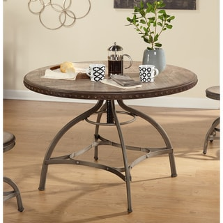 Tabouret Metal And Wood Table 14263391 Overstock Com