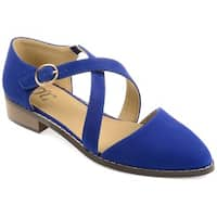Journee Collection Women's 'Elina' D'orsay Ankle Strap Flats