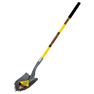 Seymour-Structron S710 49630 48-inch Long Fiberglass Handle Notched Round Pt Super Shovel