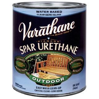 Varathane 250141H 1 Quart Semi-Gloss Water Based Outdoor Diamond Wood Finish