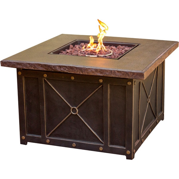 Cambridge Outdoor 40 Inch Square Gas Fire Pit With