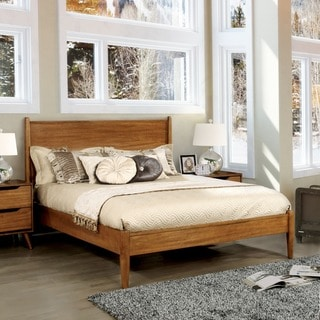 Grain Wood Furniture Loft Solid Wood Queen Size Panel Platform Bed 17611152 Overstock Com