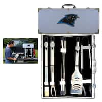 NFL Carolina Panthers Stainless Steel 8-piece Barbecue Set With Metal Case